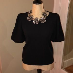 Black Top Full Short Sleeves by Green Envelope